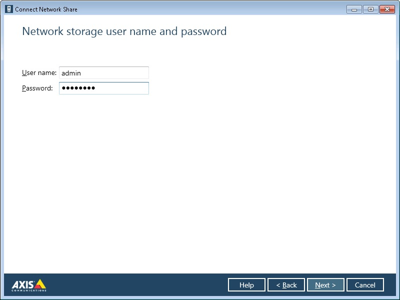 network storage username