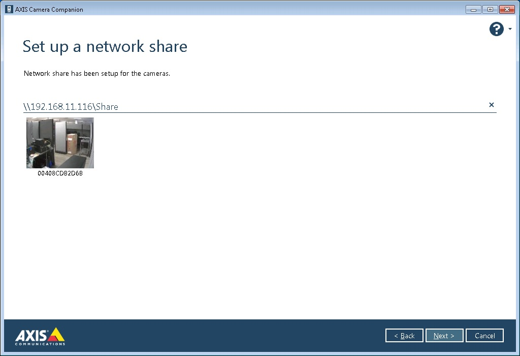 setup network share
