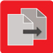 red data replication icon with gray files