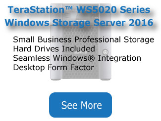 button to learn more about terastation ws5020 series